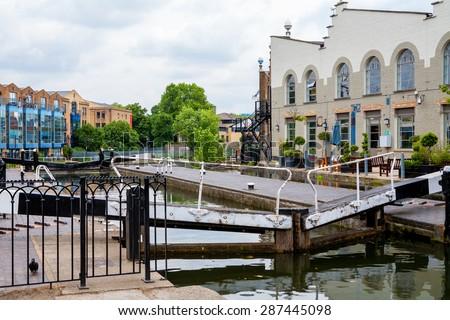 View of Camden Lock, Camden Town, London, England, UK, Europe - stock photo