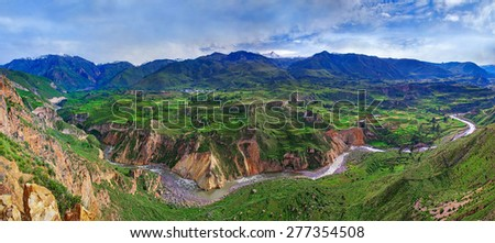View of Canyon Colca, Peru - stock photo