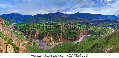 View of Canyon Colca, Peru - stock photo