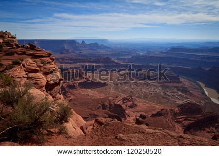 View of Canyonlands National Park from Dead Horse State Park, Utah, USA