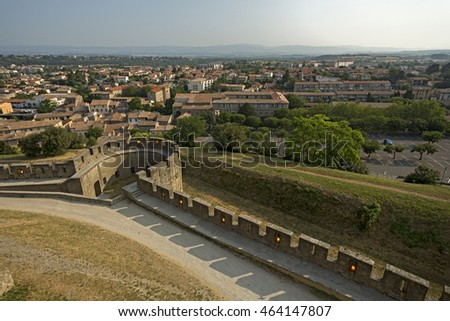 View of Carcassonne From Above, France