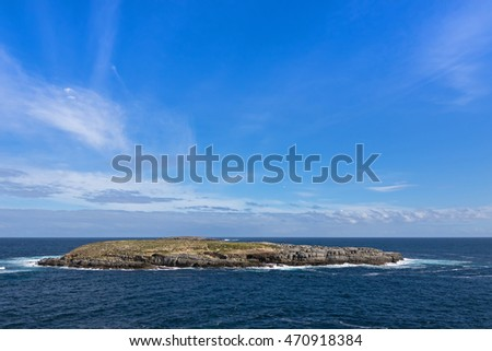 View of casuarina islets, also called The Brothers, located on south-west coast, part of Flinders Chase National Park on Kangaroo Island, South Australia