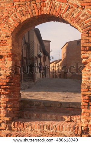 View of Certaldo medieval town,in Tuscany, Italy