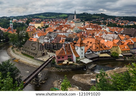 View of Cesky Krumlov, Czech Republic. - stock photo