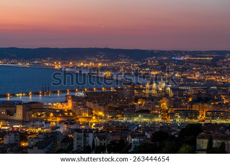 View of Chateau d'If in Marseille in France - stock photo