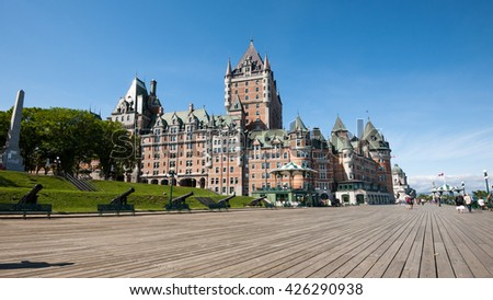 View of Chateau Frontenac, city of Quebec, canada.