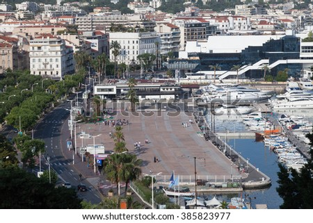 View of city Cannes