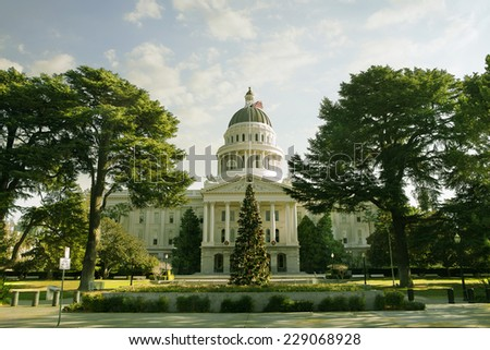 view of city hall sacramento california - stock photo