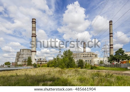 View of city thermal power plant