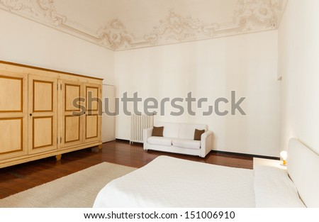 view of classic bedroom in a hotel