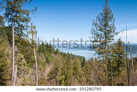 View of coeur d' alene lake in northern Idaho