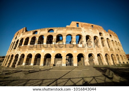 View of Colosseum , Rome