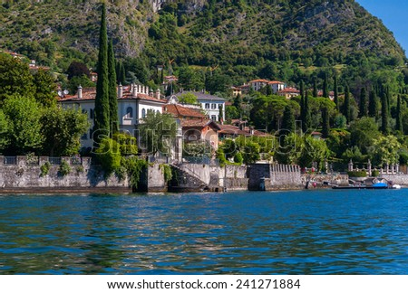 View of Como Lake, Lombardy, Italy - stock photo