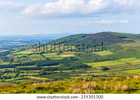 View of Croaghaun in County Carlow - stock photo