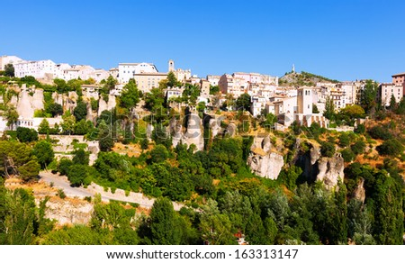 view of Cuenca. Castilla-La Mancha,  Spain