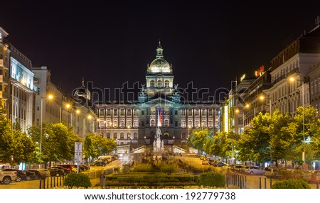 View of Czech National Museum in Prague - stock photo