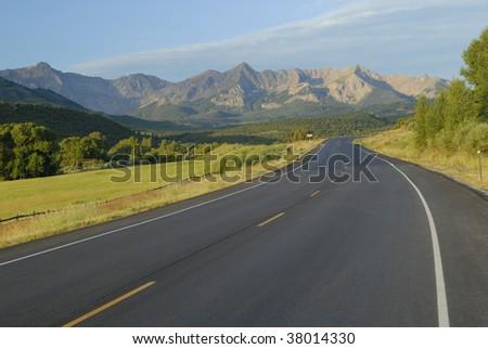View of Dallas Divide in San Juan Mountains, Colorado Rockies - stock photo