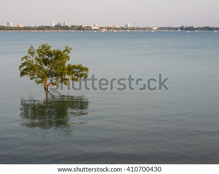 View of Darwin city from East Point Reserve, Northern Territory, Australia - stock photo
