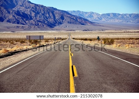 View of Death Valley National Park, California USA - stock photo