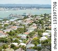 View of Devonport suburbs in Auckland, New Zealand - stock photo