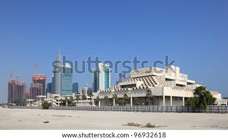View of Doha downtown, Qatar - stock photo