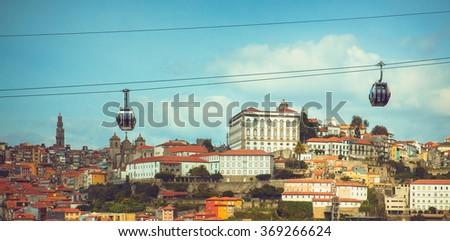 View of Douro river and Porto. - stock photo