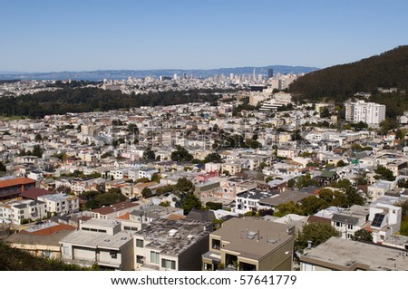 View of downtown in San Francisco, California.