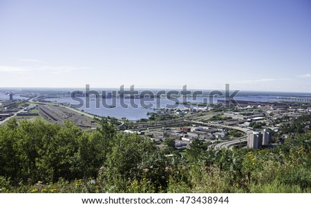 View of Duluth, Minnesota in the Summer.
