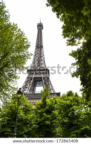 View of Eiffel Tower in Paris, France - stock photo