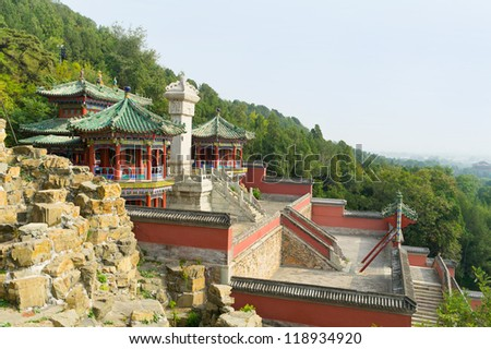View of Emperor Summer Palace, Beijing China - stock photo