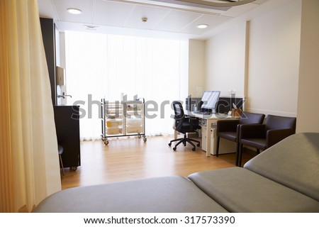 View Of Empty Doctor's Surgery - stock photo