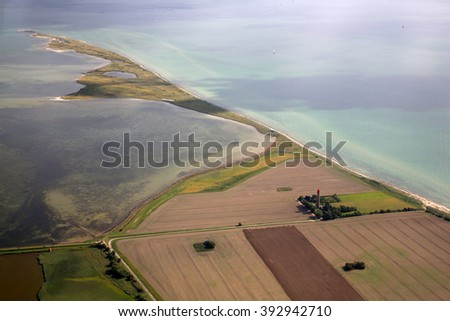 View of Fehmarn from the air
