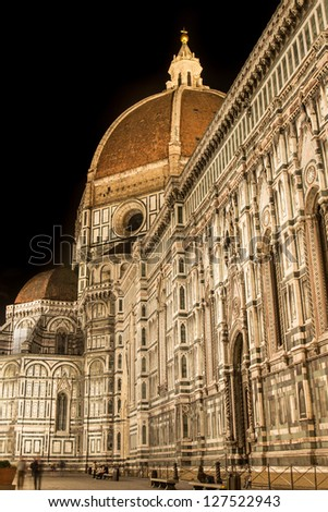 View of Firenze Duomo at night.
