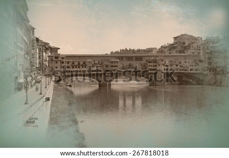 View of Florence - stock photo