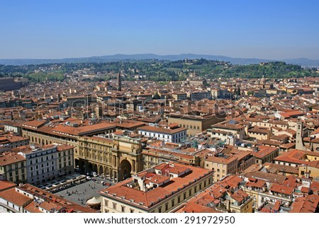 View of Florence in Italy - stock photo