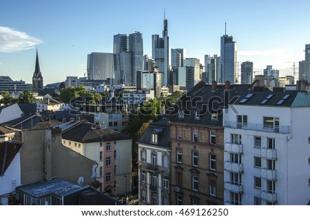 View of Frankfurt am Main skyline , Germany