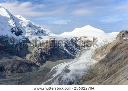 View of  Franz Josefs Hohe Glacier, Hohe Tauern National Park, Austria - stock photo