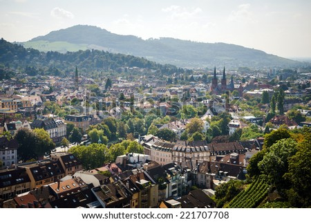 View of Freiburg im Breisgau - stock photo