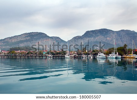 View of Gocek marina