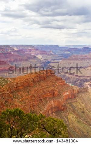 View of Grand Canyon, Arizona, USA. - stock photo