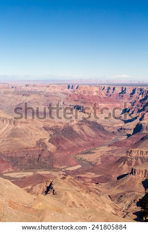 View of grand Canyon from South Rim in the Winter.