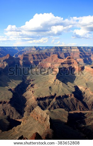 View of Grand Canyon in the state of Arizona, United States