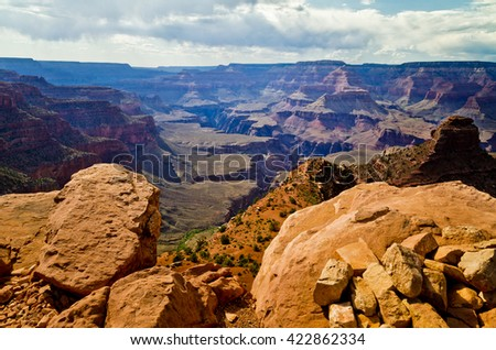 View of Grand Canyon of Arizona National Park in USA - stock photo