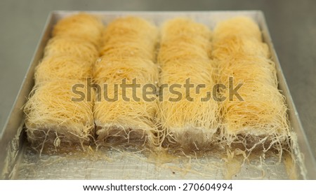 View of greek traditional sweet - stock photo