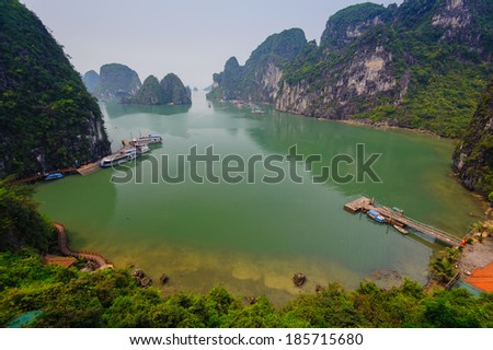 View of Halong Bay, Vietnam - stock photo