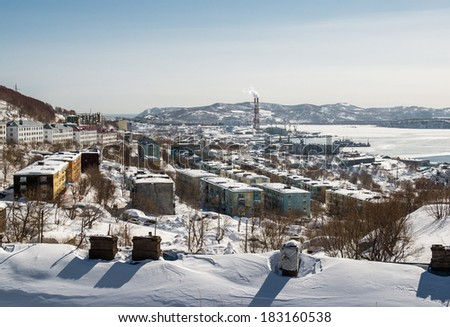 View of heat and power plant in Petropavlovsk-Kamchatsky, Kamchatka. Russia