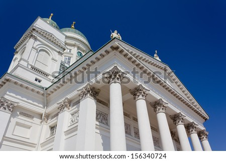 View of Helsinki Cathedral, Finland - stock photo