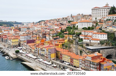 view of historical part of Porto city, Portugal