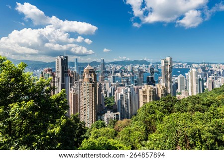 View of Hong Kong during the day - stock photo