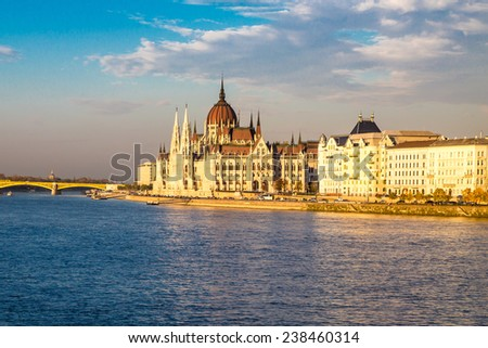 View of hungarian Budapest Parliament building, Budapest, Hungary